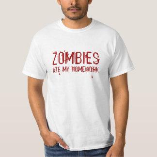 Zombies Ate My Homework tshirt