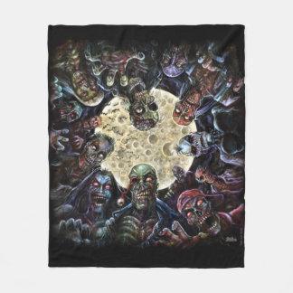Zombies Attack (Zombie Horde) Fleece Blanket