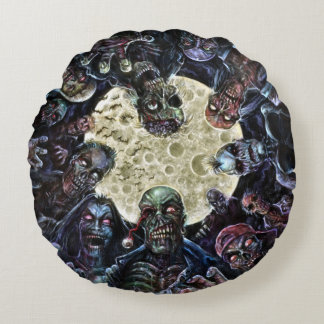 Zombies Attack (Zombie Horde) Round Pillow