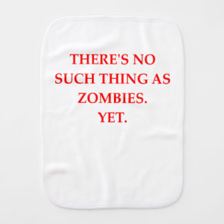 zombies burp cloth