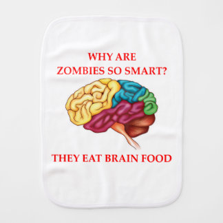 zombies burp cloth