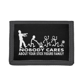 Zombies Chasing Stick Family Figures Wallet Walker