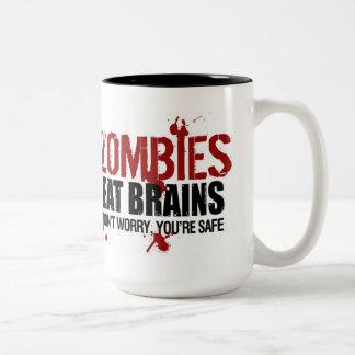 ZOMBIES EAT BRAINS Two-Tone COFFEE MUG