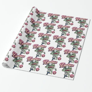 Zombies eat Brains Wrapping Paper