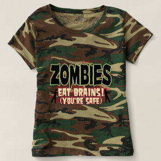 Zombies Eat Brains ( Your Safe) T-shirt