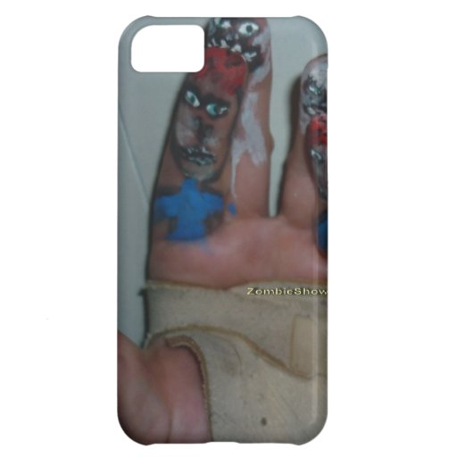 Zombies Eating Brains Funny Zombie Fingers Painted iPhone 5C Covers