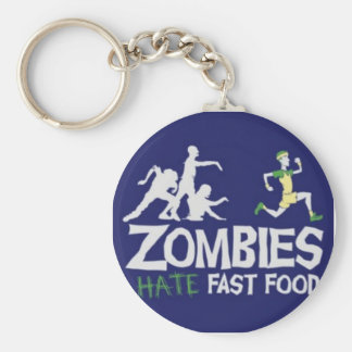 Zombies Hate Fast Food Basic Round Button Keychain