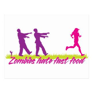 Zombies Hate Fast Food (Girls) Postcard
