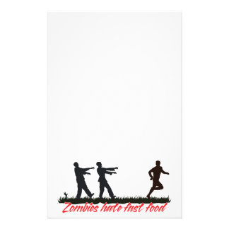 Zombies Hate Fast Food Personalized Stationery