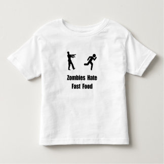 Zombies Hate Fast Food Toddler T-shirt