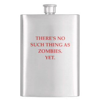 zombies hip flask