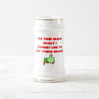 Zombies like stupid brains beer stein
