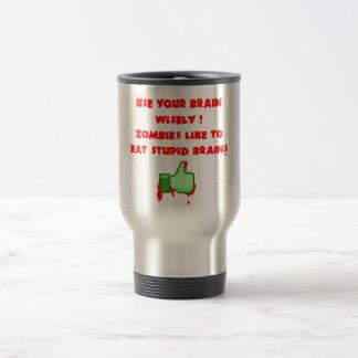 Zombies like stupid brains travel mug