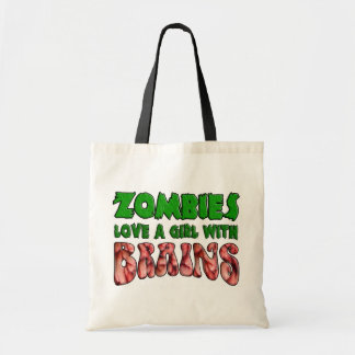 Zombies Love a Girl with Brains Tote Bag
