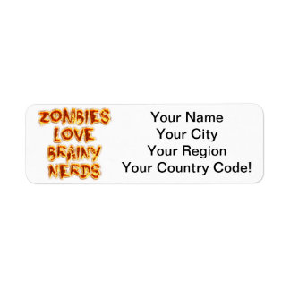 Zombies Love Brainy Nerds Return Address Label
