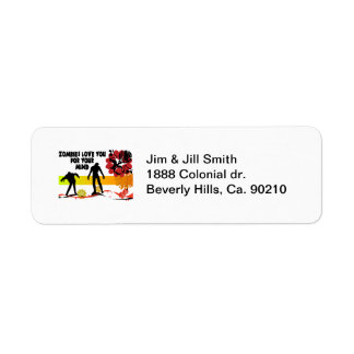 Zombies Love You For Your Mind Return Address Label