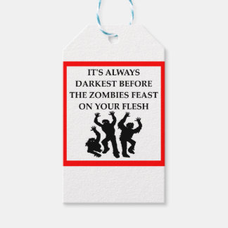 ZOMBIES PACK OF GIFT TAGS