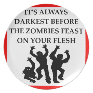 ZOMBIES PARTY PLATES