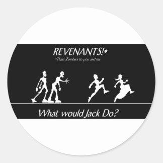 Zombies Round Sticker