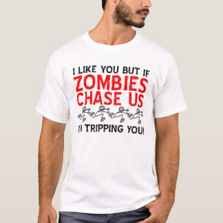 Zombies Tripping Funny T-shirt