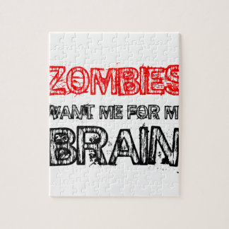 zombies want me for my brain jigsaw puzzle