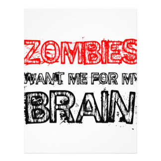 zombies want me for my brain letterhead
