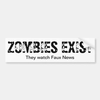 Zombies Watch Faux News Bumper Stickers