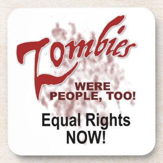 zombies were people too beverage coasters
