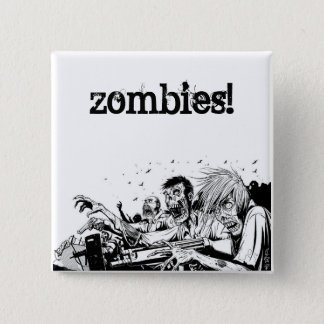 Zombies with Guns 2 Inch Square Button