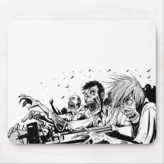 Zombies with Guns Mouse Pad