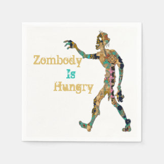 Zombody Is Hungry Paper Napkins