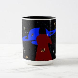 Zonder Bijen geen planeet Aarde. Two-Tone Coffee Mug
