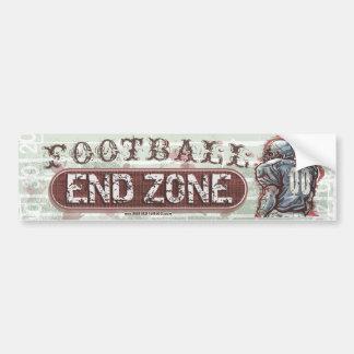 Zone d'en-but Bumpersticker du football Autocollant De Voiture