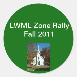 Zone Rally sample 2 Round Sticker