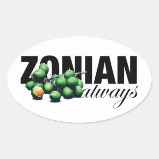 Zonian Always with Ginnups Oval Sticker
