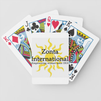 Zonta International Sun Shirt Bicycle Playing Cards
