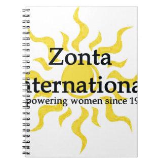 Zonta International Sun Shirt Notebook