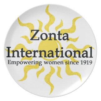 Zonta International Sun Shirt Plate