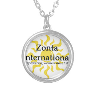 Zonta International Sun Shirt Silver Plated Necklace
