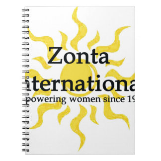 Zonta International Sun Shirt Spiral Notebook