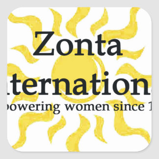 Zonta International Sun Shirt Square Sticker