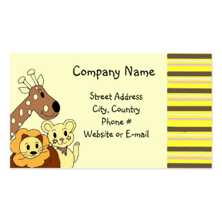 Zoo Animal Business Card