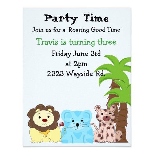 Zoo Animal Party Invitation
