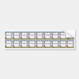 Zoo Animal Sippy Cup Labels Bumper Sticker