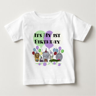 Zoo Animals 1st Birthday Tshirts and Gifts