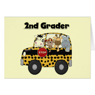 Zoo Animals 2nd Grade Tshirts and Gifts Card