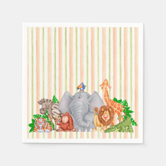Zoo Animals - Napkins Disposable Napkin