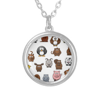 Zoo Animals Silver Plated Necklace