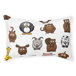 Zoo Animals Small Dog Bed