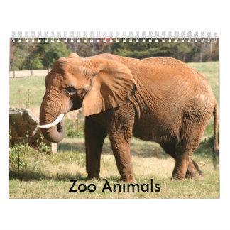 Zoo Animals Wall Calendars